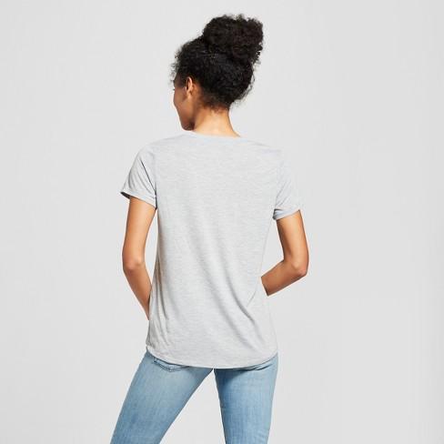 Women s Disney Minnie Mouse Short Sleeve Watercolor Graphic T-Shirt  (Juniors ) Gray   Target a09944d3e