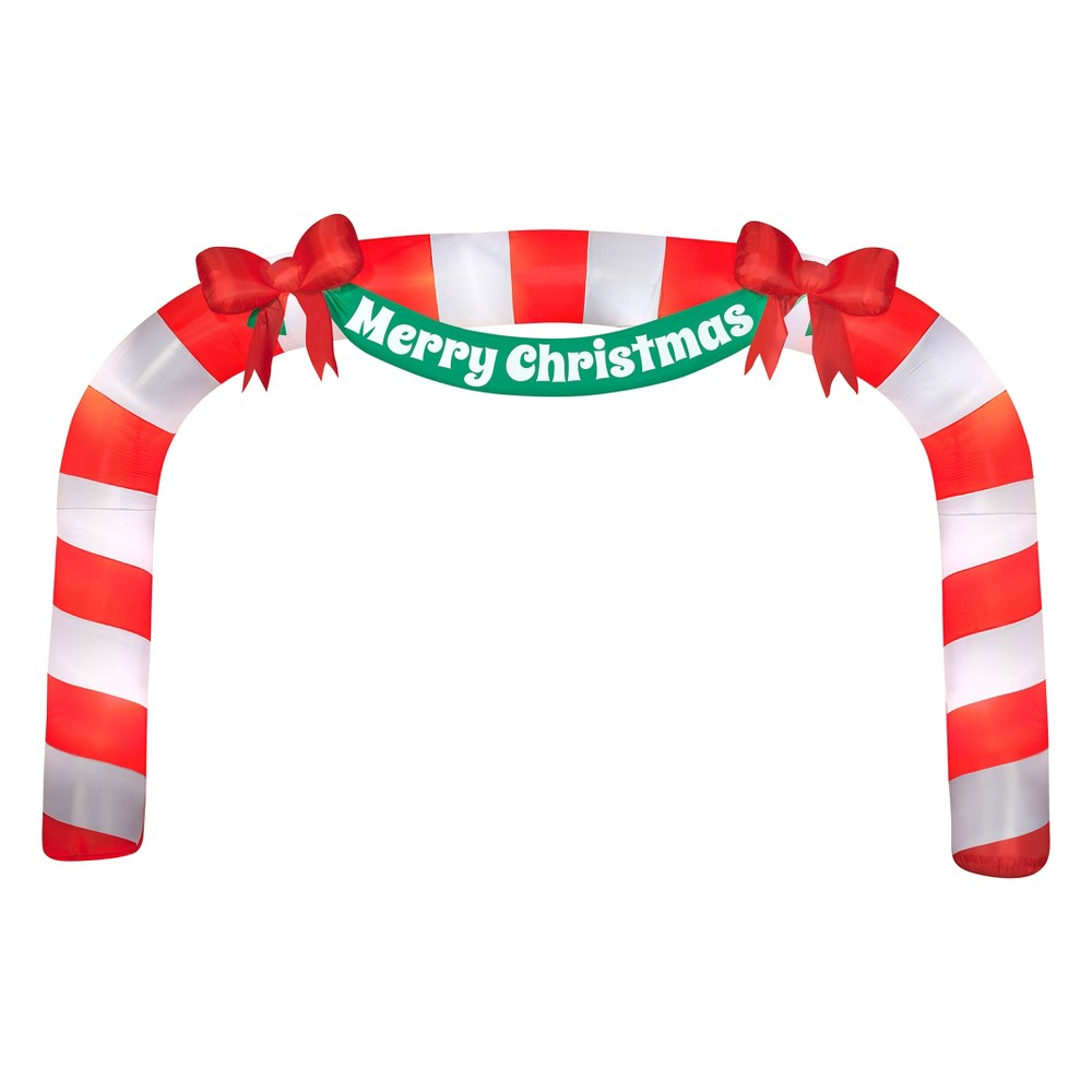 Holiday Inflatable Archway Candy Cane, Multi-Colored