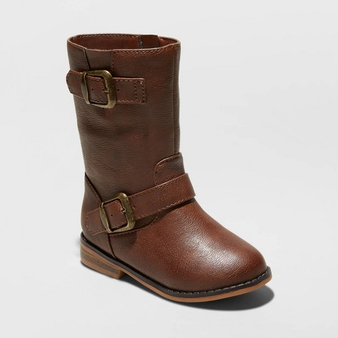 Toddler Girls' Ina Fashion Boots - Cat & Jack™ Brown - image 1 of 3