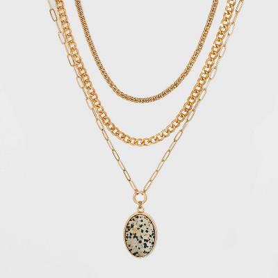 Semi-Precious Layered Necklace - Universal Thread™
