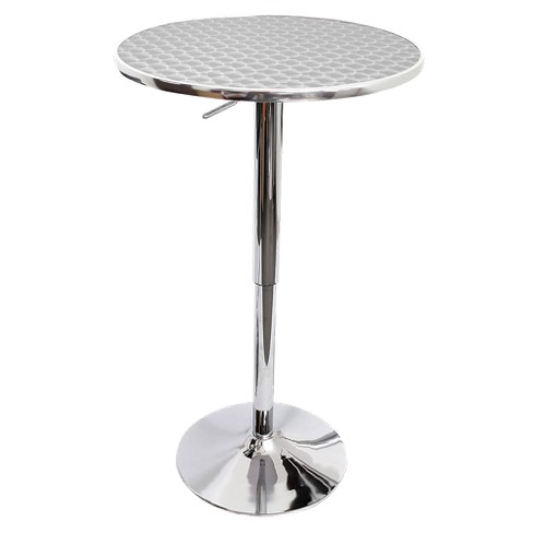 Bistro Adjule Bar Table Metal Stainless Steel Lumisource