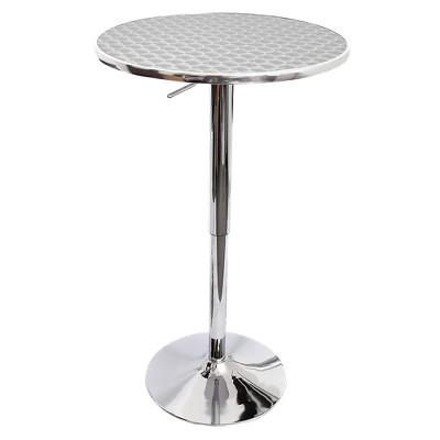 Ordinaire Bistro Adjustable Bar Table Metal/Stainless Steel   LumiSource