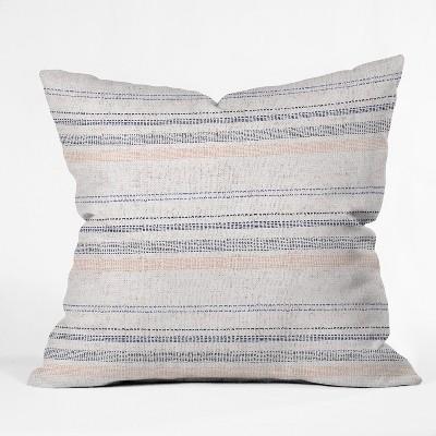 Blue Stripe Throw Pillow - Deny Designs