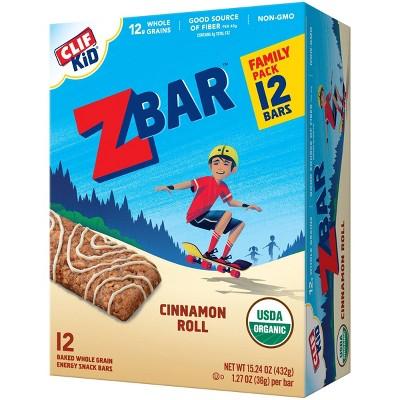 CLIF Kid ZBAR Organic Cinnamon Roll Snack Bars - 15.24oz/12pk
