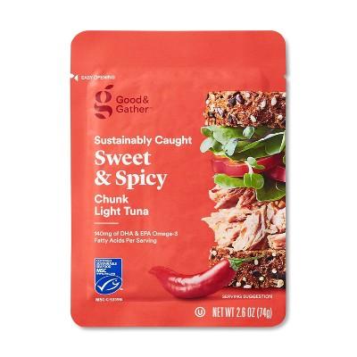 Sweet & Spicy Chunk Light Tuna - 2.6oz - Good & Gather™