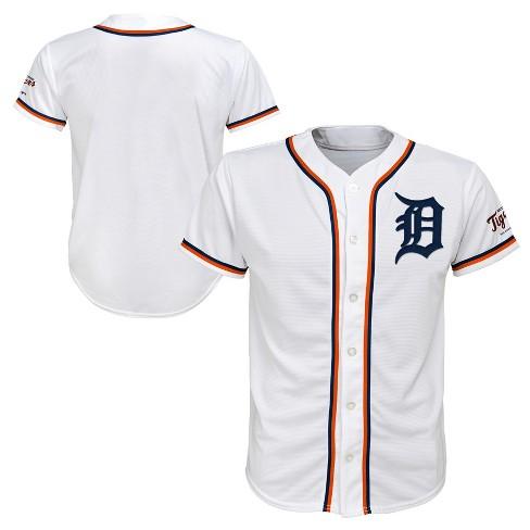 online retailer 459f5 24543 Detroit Tigers Boys' White Team Jersey - XS