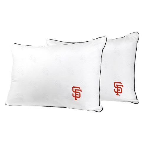MLB San Francisco Giants White Embroidered Bed Pillow 2pk - image 1 of 1