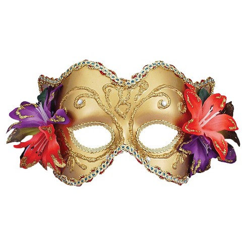 Venetian Mask with Flowers - image 1 of 1