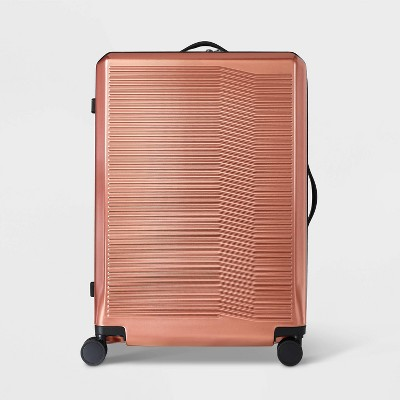 "Hardside 29"" Checked Suitcase Rust - Open Story™"