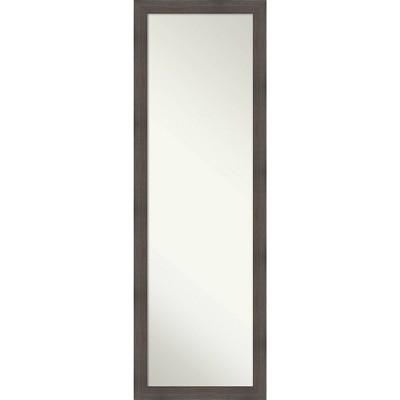 "17"" x 51"" Hardwood Narrow Framed Full Length on the Door Mirror - Amanti Art"