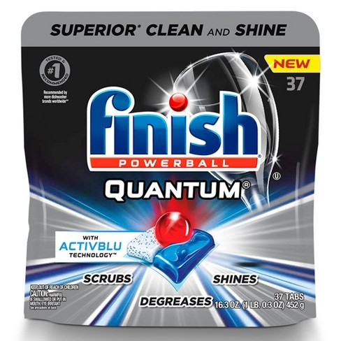 Finish Quantum Ultimate Clean & Shine Dishwasher Detergent Tablets - 37ct - image 1 of 4