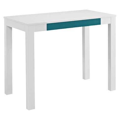 George Parsons Desk With Drawer White Teal Room Joy