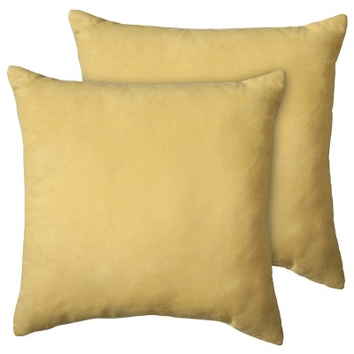 Yellow Suede Throw Pillow (18 X18 , 2 Pk)- Room Essentials™
