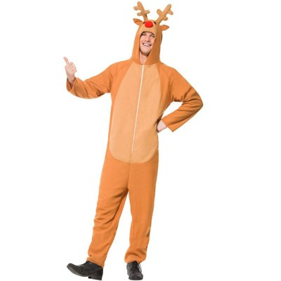 Smiffy Red Nosed Reindeer Adult Costume