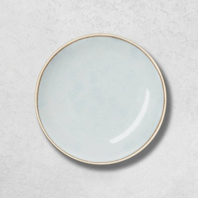 Stoneware Reactive Exposed Rim Appetizer Plate Blue - Hearth & Hand™ with Magnolia