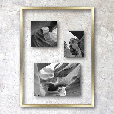 "11"" x 15"" Float Thin Metal Gallery Frame Brass - Project 62™"