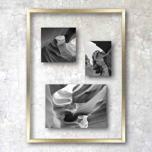 """11"""" x 15"""" Float Thin Metal Gallery Frame Brass - Project 62™ - image 1 of 4"""