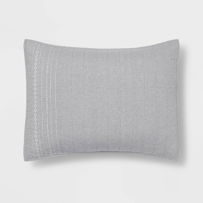 Emroidered Chambray Quilt Sham - Threshold™