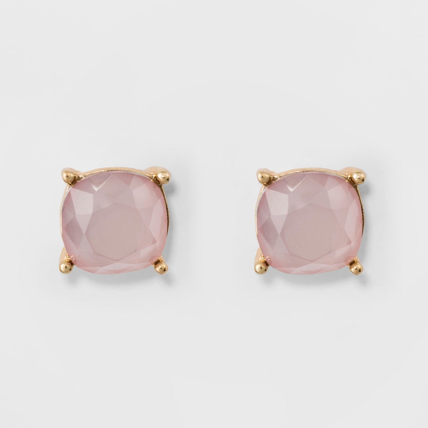 Stud Earrings - A New Day™ Gold/Pink - image 1 of 2