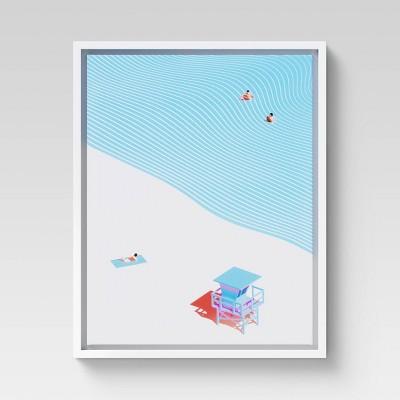 "16"" x 20"" Beach Retreat Framed Canvas - Project 62™"