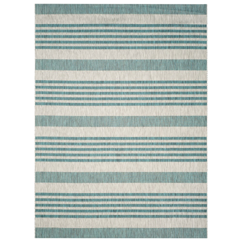 Dudley Rectangle 8'X11' Patio Rug - Gray/Blue - Safavieh
