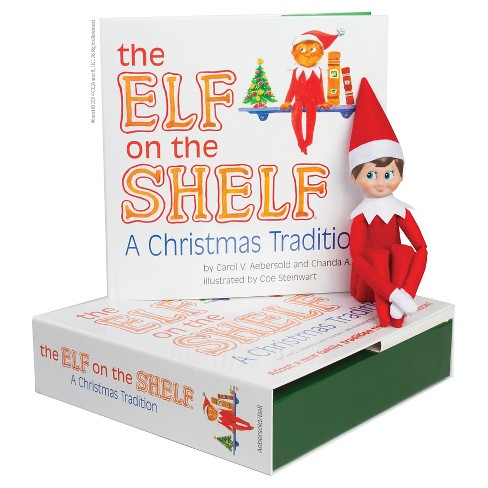 The Elf on the Shelf: A Christmas Tradition with Light Skin Tone Boy Scout Elf - by Carol V Aebersold and Chanda A (Hardcover) - image 1 of 3