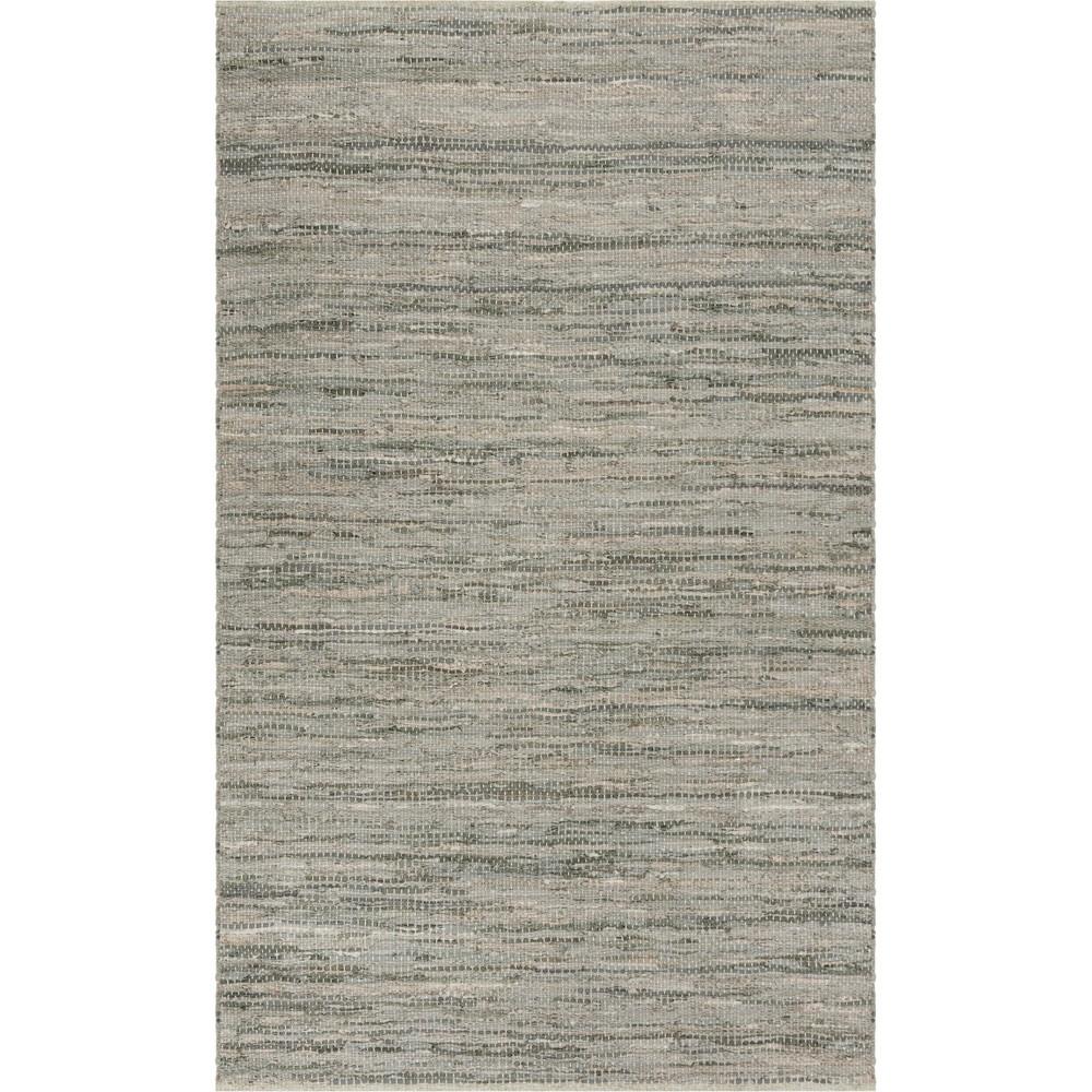 5'X8' Solid Woven Area Rug Gray - Safavieh