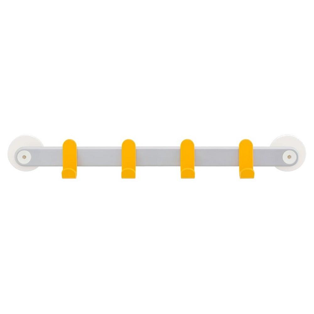 Slide on Hooks Storage Rail 4 Hooks 45cm Yellow - Sabi