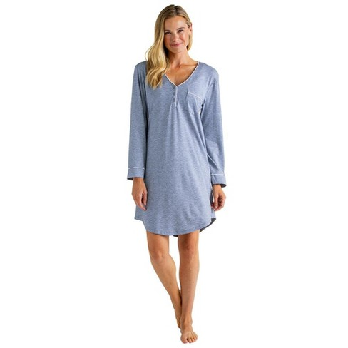 "Softies Women's 36"" Sleep Shirt with Contrast Piping - image 1 of 4"