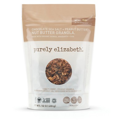 Purely Elizabeth Chocolate Sea Salt & Peanut Butter Nut Butter Granola - 10oz