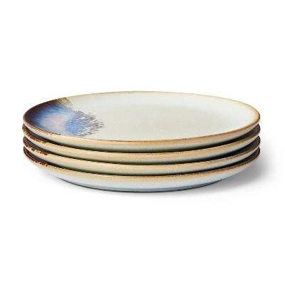 "8"" 4pc Distressed Ceramic Salad Plate Set Neutral/Blue - Levi's® x Target"