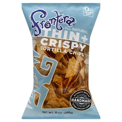 Frontera Handmade Thin Crispy Tortilla Chips - 10oz/12pk