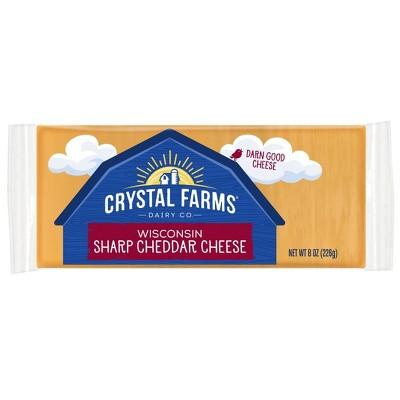Crystal Farms Sharp Cheddar Cheese - 8oz