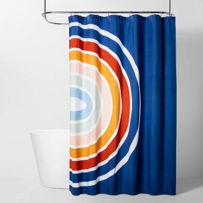 Rainbow Shower Curtain Blue - Room Essentials™
