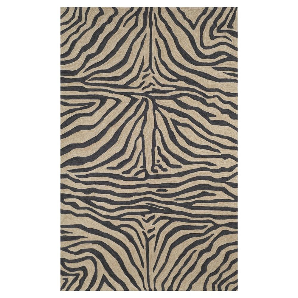 Liora Manne Ravella Zebra Indoor Outdoor Area Rug Black 8 3 X11 6