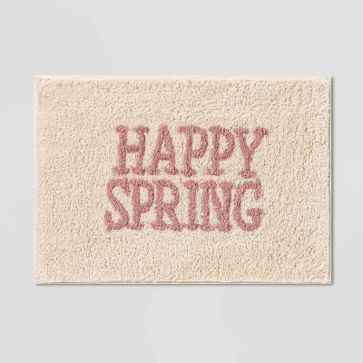 "17""x24"" Happy Spring Bath Rug Pink - Threshold™"