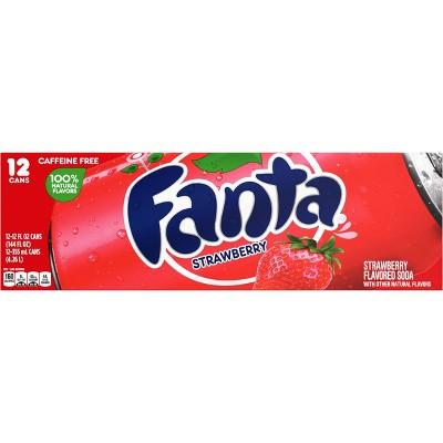 Fanta Strawberry Soda - 12pk/12 fl oz Cans