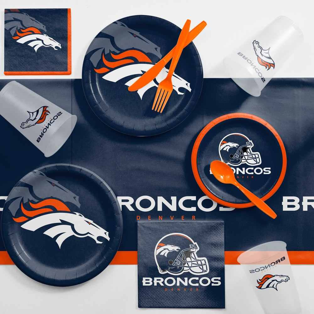 Denver Broncos Game Day Party Supplies Kit, Multi-Colored