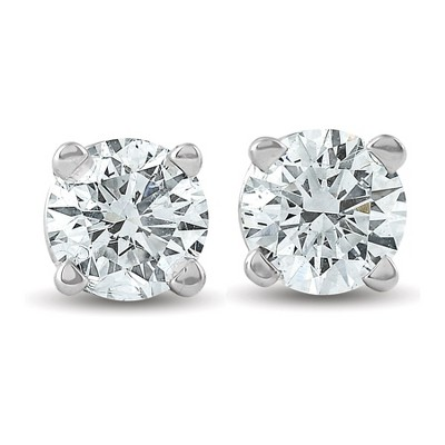 Pompeii3 3/8 Ct TDW 14k White Gold Lab Created Diamond Studs Screw Back Earrings