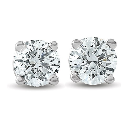 Pompeii3 1/3 ctw 14k White Gold Diamond Stud Earrings - image 1 of 4
