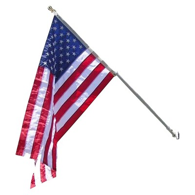 American Flag with Spinning Pole Estate Set