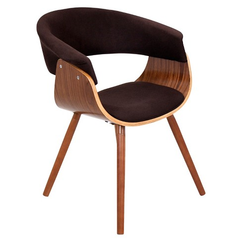 Vintage Mod Dining Chair Wood/Brown - LumiSource - image 1 of 6