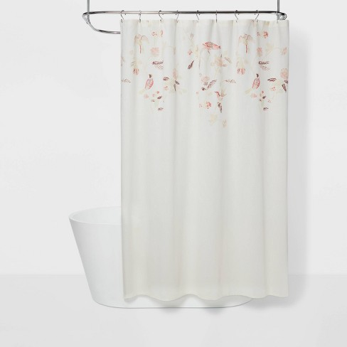 Engineered Floral Shower Curtain Shadow Rose Threshold Target 1 pack of 12 hooks shower curtain hooks target dots orange blue yellow pink. engineered floral shower curtain shadow rose threshold