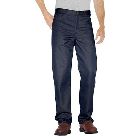 Dickies® Men's Regular Straight Fit Twill 5- Pocket StayDark® Work Pants - Dark Navy 32x30 - image 1 of 2