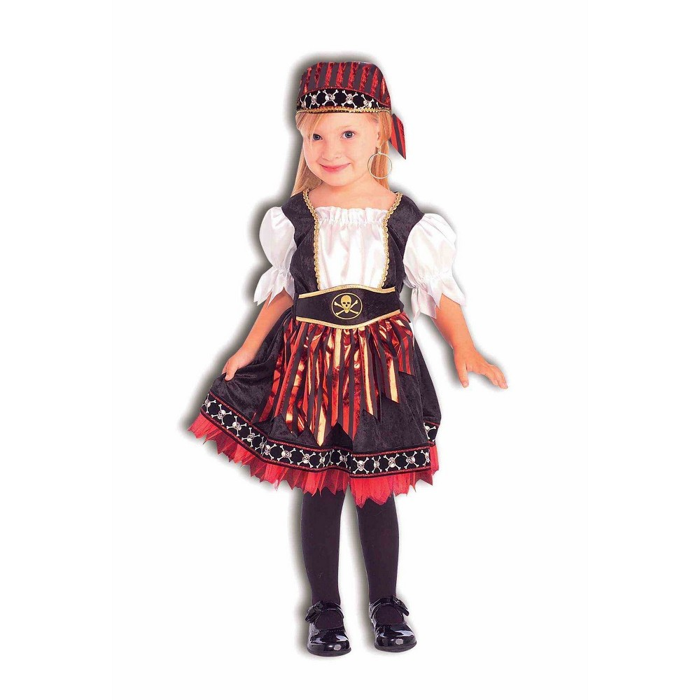 Image of Halloween Girls' Lil' Pirate Cutie Halloween Costume S - Forum, Girl's, Size: Small, MultiColored