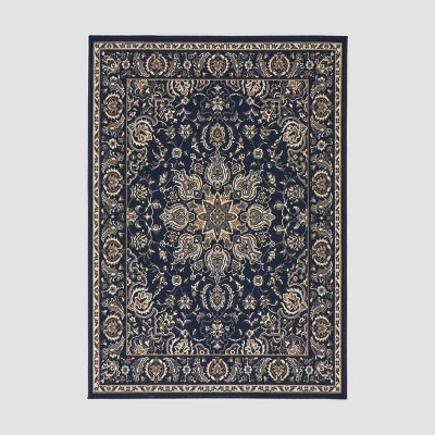 5'3  x 7' Palmetto Outdoor Rug Blue/Ivory - Christopher Knight Home