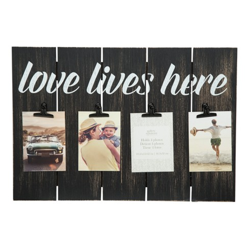 Multiple Picture 12X18 Love Lives Here Clip Frame - Gallery Solutions - image 1 of 4