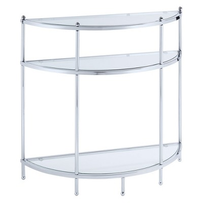 Royal Crest Entryway Table Chrome/Glass - Breighton Home