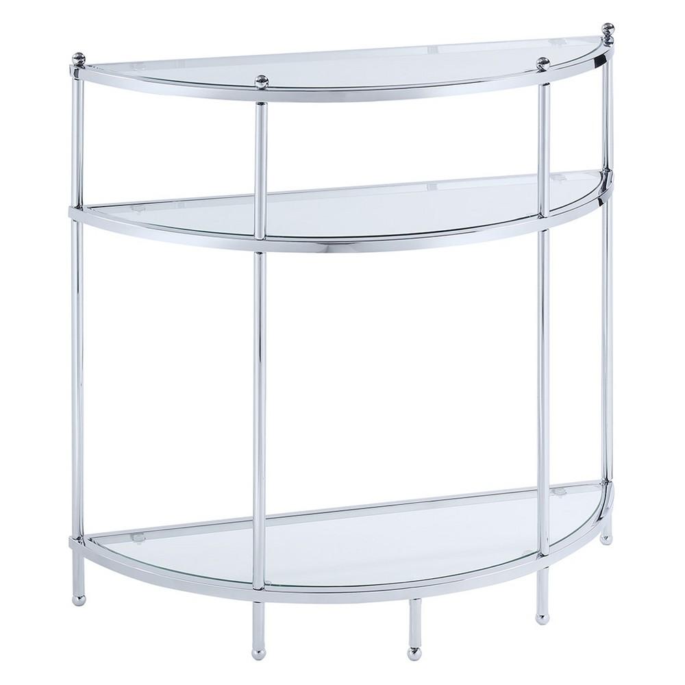Johar Furniture Royal Crest Entryway Table Chrome (Grey)