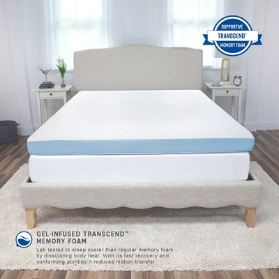 SensorPEDIC 4-Inch Supreme Gel Cooling Transcend Memory Foam Bed Topper